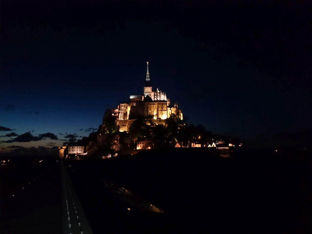 モンサンミッシェル 夜景