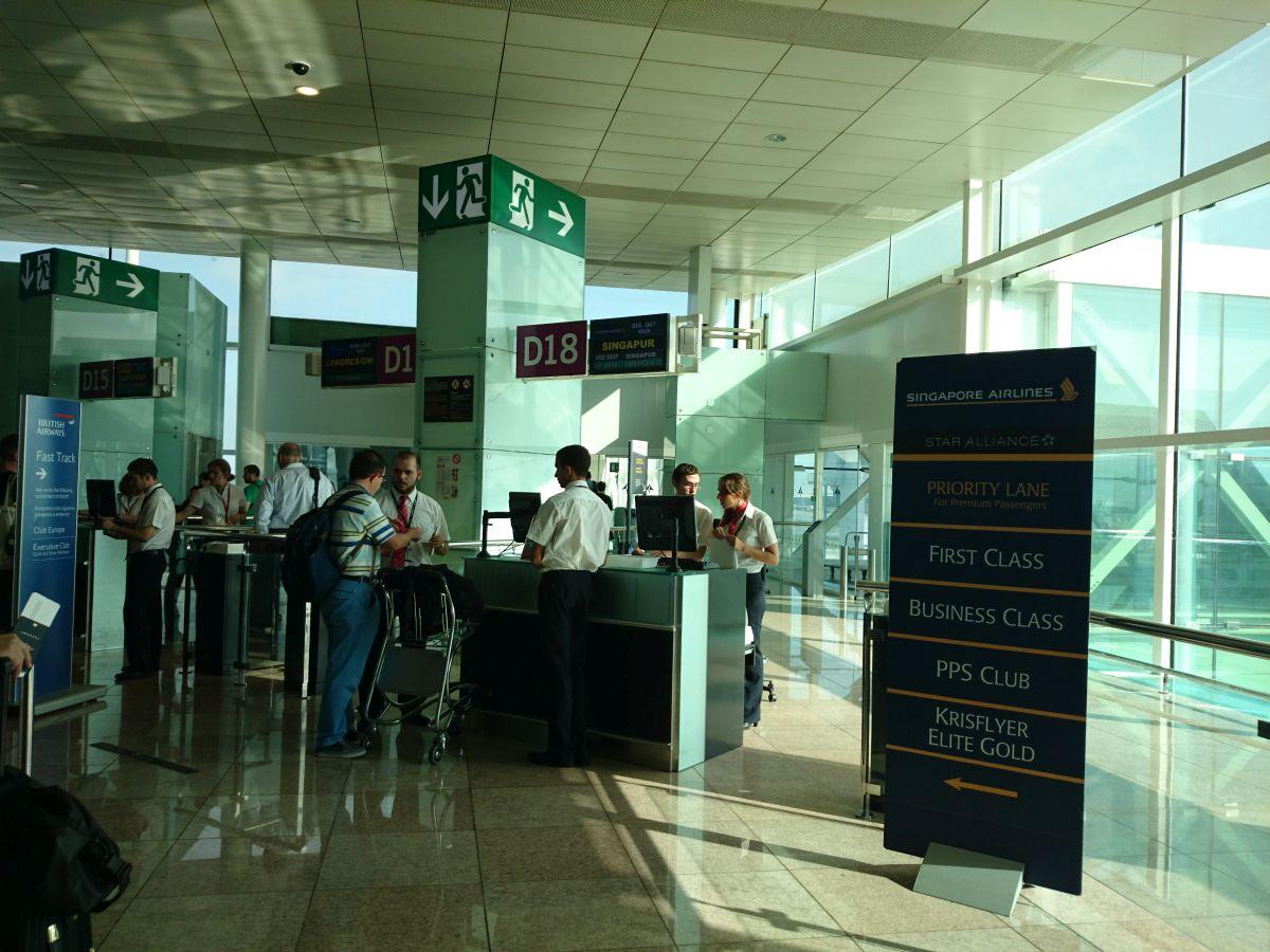 バルセロナ空港 シンガポール航空