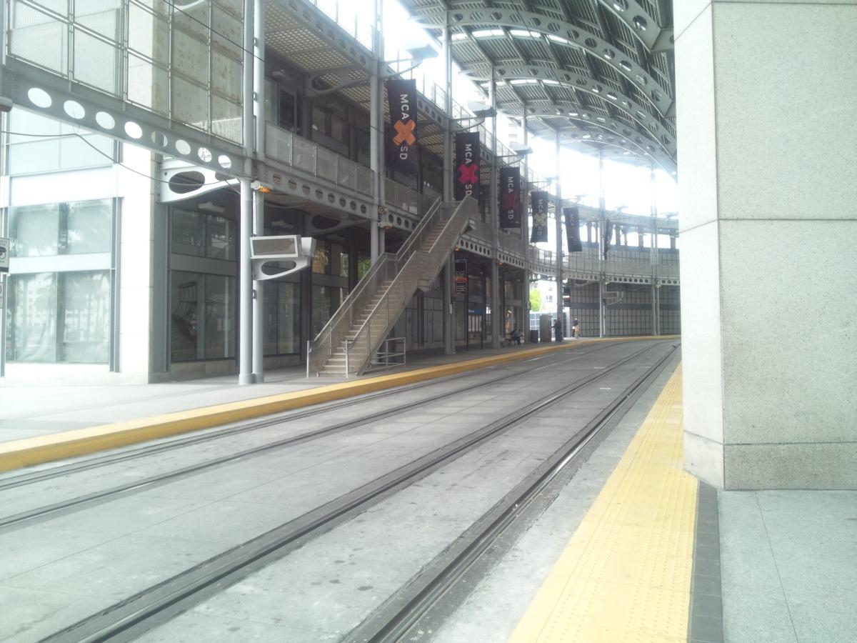 サンディエゴトロリー サンタフェ駅