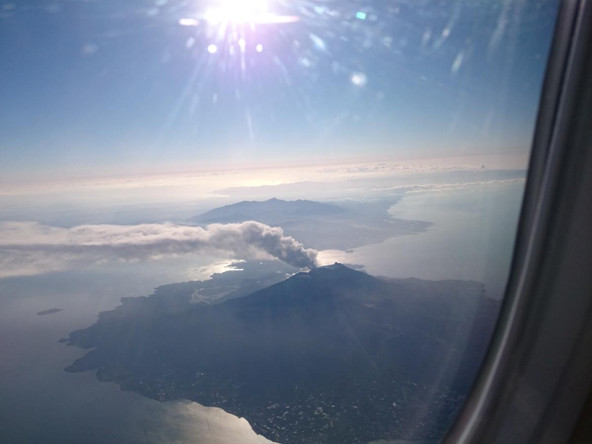 飛行機 桜島