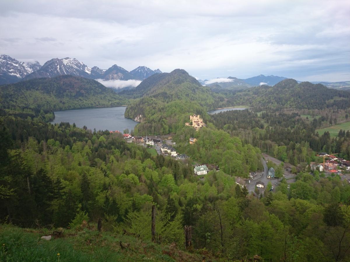 ホーエンシュヴァンガウ城 シュヴァン湖 アルプ湖