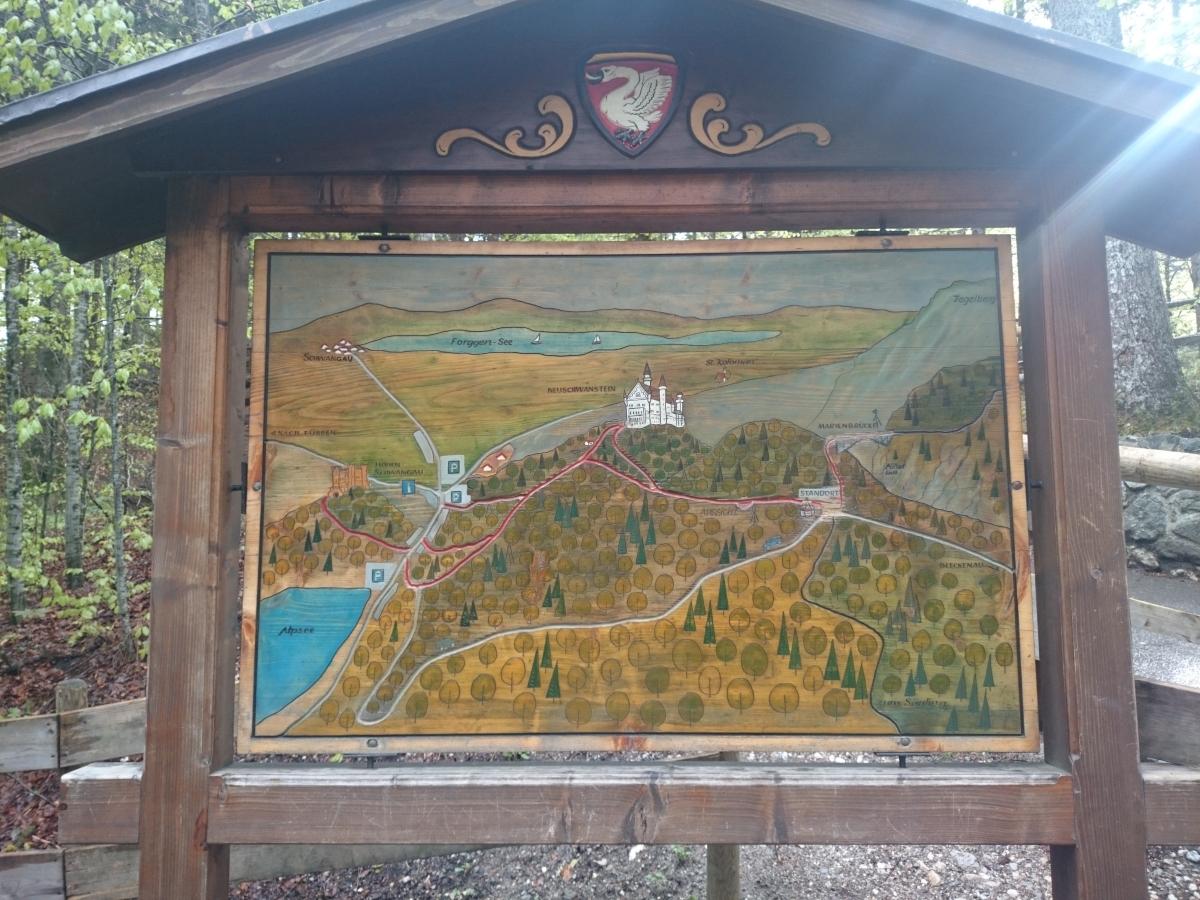 ノイシュヴァンシュタイン城 地図