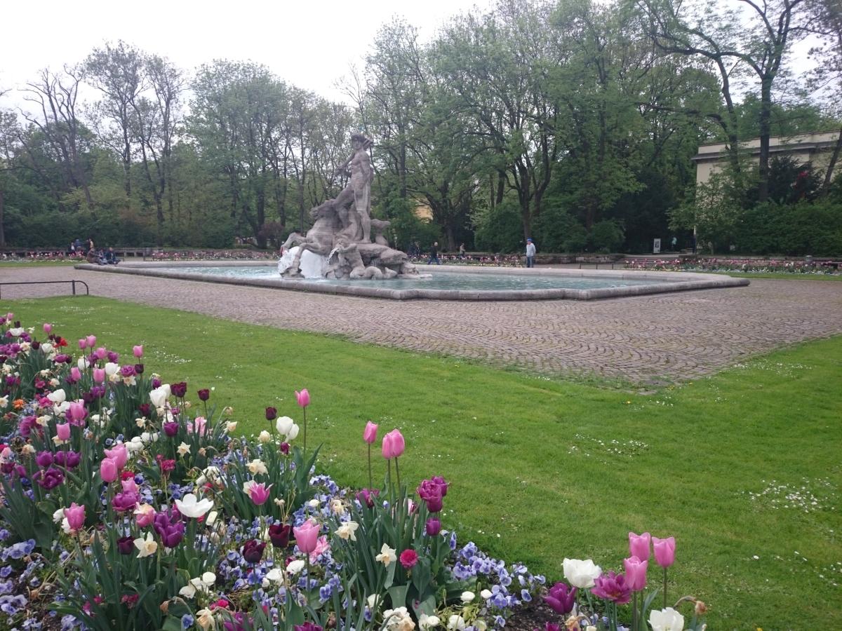 ミュンヘン 旧植物園 ネプチューン噴水