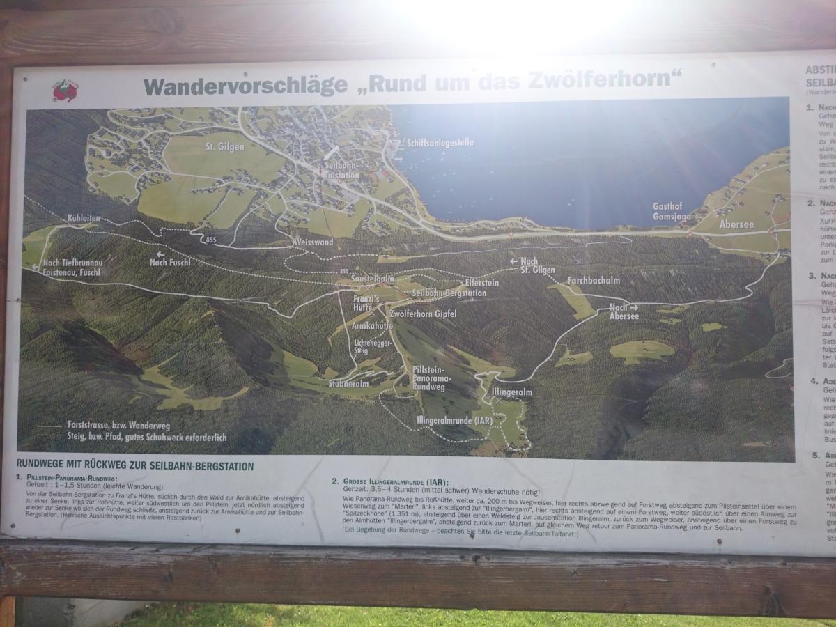 ザンクト・ギルゲン ツヴェルファーホルン 地図