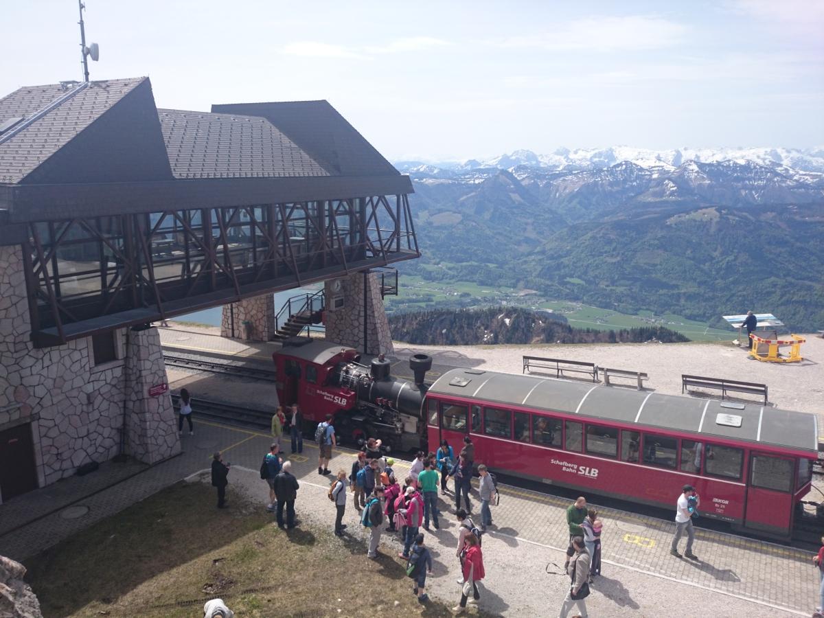 シャーフベルク登山鉄道 山頂
